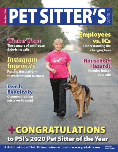 Pet Sitter of The Year 2020 PSI Cover